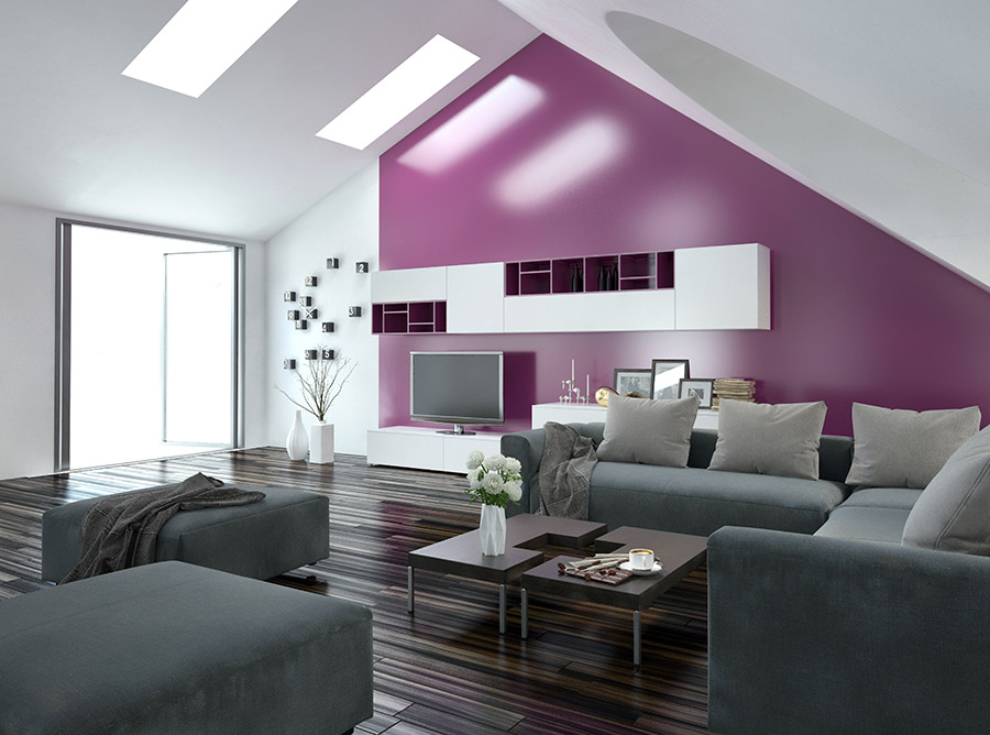 Room-with-Purple-Wall