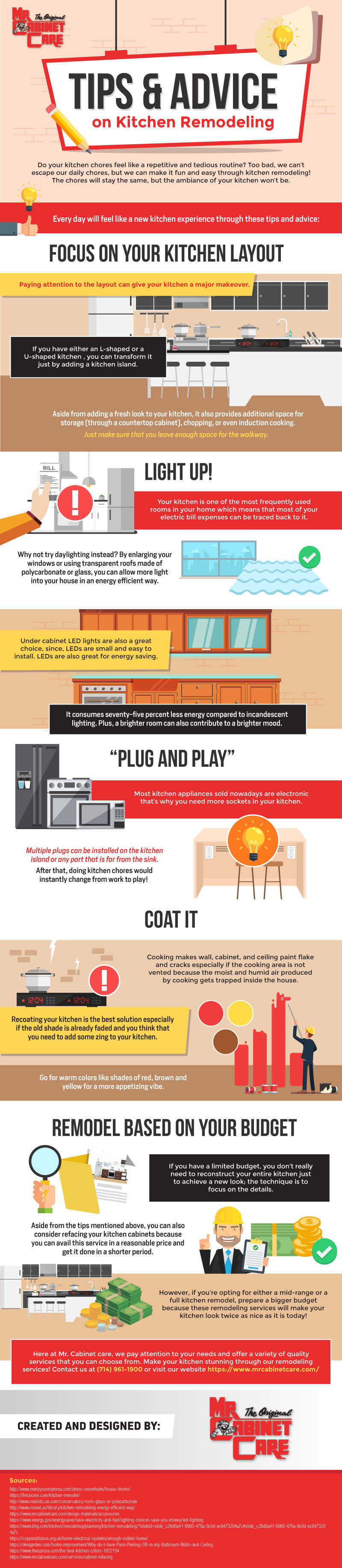 Tips & Advice on Kitchen Remodeling [Infographic]